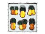 Decorative Pineapple Magnets Set