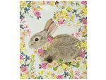 Bunny Floral Gift Bag with Tag