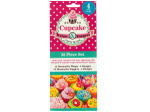 Decorative Cupcake Wraps and Toppers Set