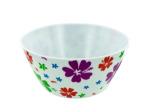 Melamine bowl with flower print