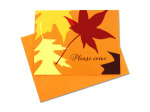 Autumn themed invitations