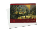 Open house invitations with Thomas Kinkade design