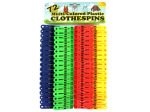Plastic Clothespin Set, 72 Pieces