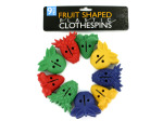 Fruit shaped plastic clothespins
