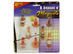 Liquor bottle magnets (set of 8)