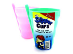 Sipper cup with built-in straw