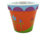 Melamine Flower Pot with Floral Design