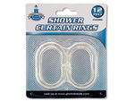 Clear Shower Curtain Rings Set