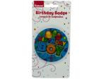 Holographic Birthday Boy Badge