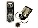 Belt Keychain with Easy Release Clips