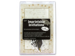 imprintable invitations 10 per pack 8 1/2 in x 5 1/2 beige w