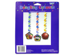Basketball party dangling cut-outs, pack of 3