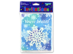 Snowflake invitations, pack of 8