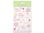 Baby girl stickers, four sheets