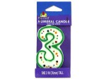Numeral 3 Birthday Candle