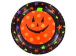 Pumpkin shallow plastic bowl