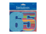 65th birthday invitations