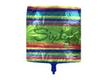 "Large striped ""sixty"" mylar balloon"