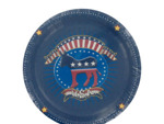 Election Time Democrat Round Plates