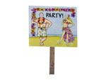 beach party double sided photo yard sign