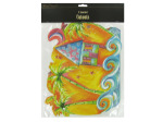 Tropical beach cut-outs, pack of 3