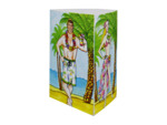 Luau tri-fold photo centerpiece