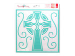 Celtic Cross Stencil Mask