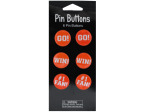 Orange Cheer Pin Buttons