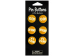 Yellow Cheer Pin Buttons