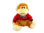 Plush monkey with T-shirt