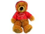 34.5 inch plush bear with hoodie