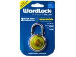 WordLock Resettable Combination Lock on Clip Strip