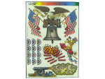 Patriotic Liberty & Justice Window Cling Decorations