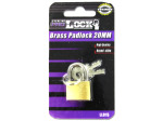 20 MM brass Padlock with keys