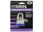 Laminated Steel Shackle Padlock with Keys