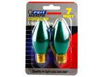 2 Pack Dark Green 7 Watt Long Life Night Light Bulbs