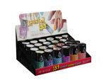 pastel gel nail polish asst colors in display