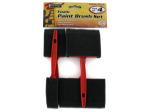 4 Pack foam paint brush set