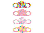 Girls 4 Asst 5.7 x 4.3 Inch Washable Fabric Face Mask