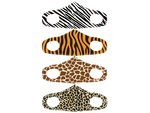 Animal Design Washable Fashion Fabric Face Cover 4 Asst