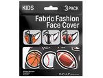 3 Pack Boys Asst 5.7 x 4.3 Inch Fabric Face Mask