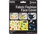3 Pack Kids Washable Fun Masks 3 Assorted