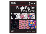 3 Pack Girls Fun Washable Face Masks 3 Asst