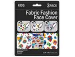 Kid's 3 Pack Superhero's Washable Face Mask 3 Asst
