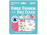 "Girls 3 Pack Preschooler 9"" x 3.5"" Washable Face Mask"