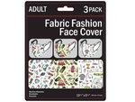 3 Pack Golf Adult Size Washable Face Mask 3 Asst