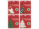 Adult Christmas Ornaments & Lights Washable Face Masks 4 Asst