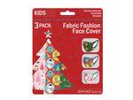3 Pack Kids Christmas Theme Washable Face Masks
