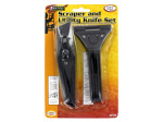 2 Piece scraper and utility knife set