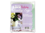 Lace table doily set
